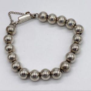 Silpada Sterling Beaded Box Clasp Bracelet B0471